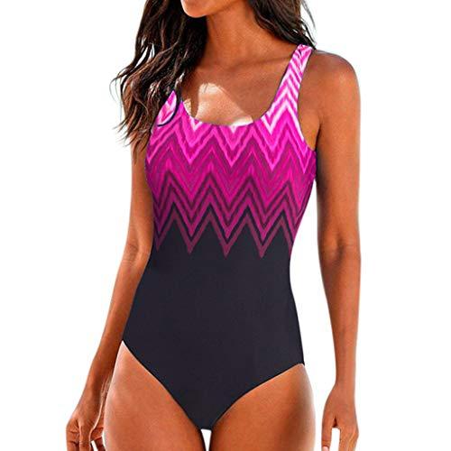 Womens Swimming Costume Padded Swimsuit Monokini Push Up Bikini Sets Swimwear Red -