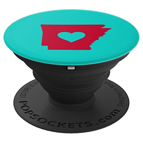Proud Arkansan Arkansas Heart Love Fayetteville Little Rock - PopSockets Grip and Stand for Phones and Tablets
