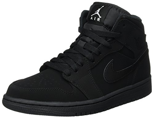 Nike Men's Air Jordan 1 Retro Mid Basketball Shoe Black/White-Black - 9 D(M) US