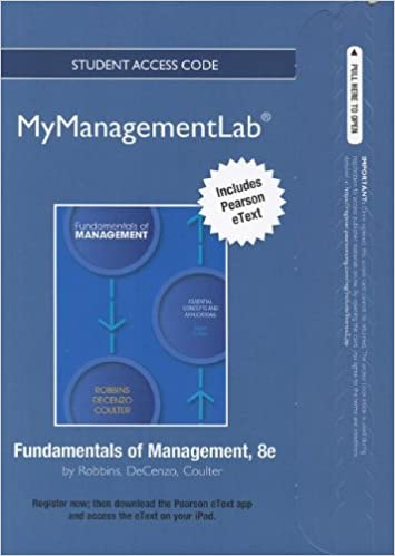 Amazon new mymanagementlab with pearson etext access card new mymanagementlab with pearson etext access card for fundamentals of management mymanagementlab access codes 8th edition fandeluxe Images