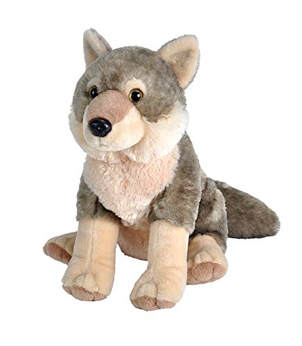 Wild Republic Wolf Plush, Stuffed Animal, Plush Toy,