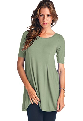 LeggingsQueen Womens Short Sleeve Swing product image