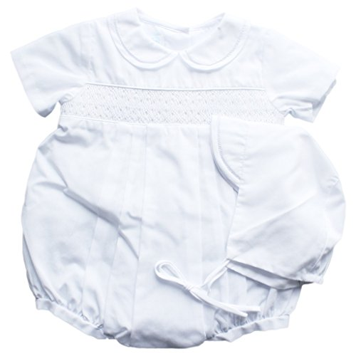 Bubble with Smocking and Faggoting, Newborn, White ()