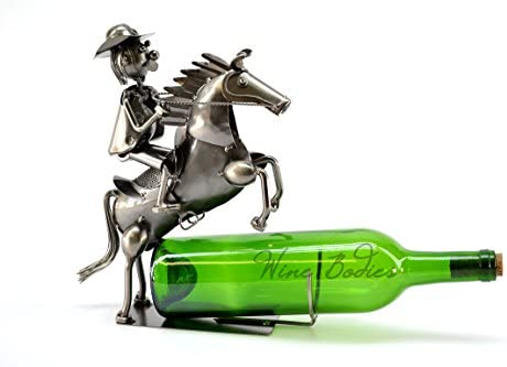 Charcoal ZB300 Wine Bodies Sheriff Cowboy Metal Wine Bottle Holder