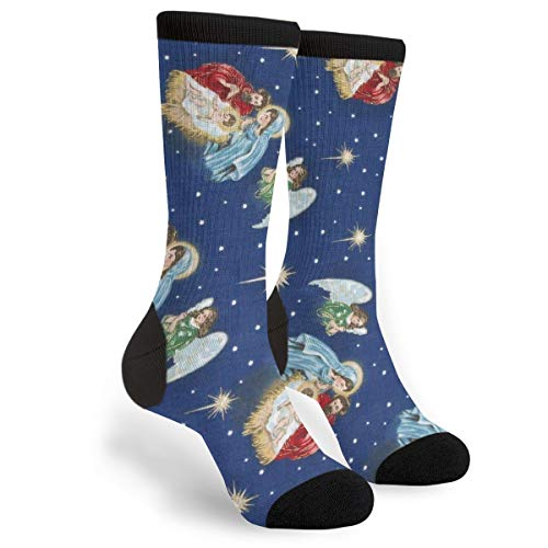 Religious Nativity Novelty Socks For Women & Men One Size - Gifts -