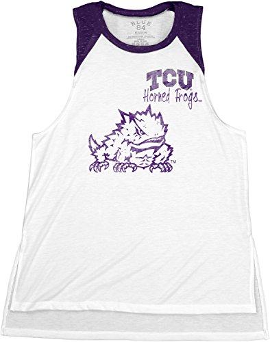 Blue 84 NCAA Tcu Horned Frogs Confetti Muscle Tank Top, Purple, (Tcu Horned Frogs Football)