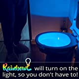Toilet Bowl Night Light with Motion Sensor LED by