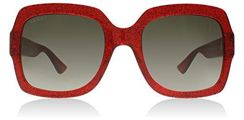 Gucci 0036S 005 Red 0036S Square Sunglasses Lens Category 3 Size - Red Glasses Gucci