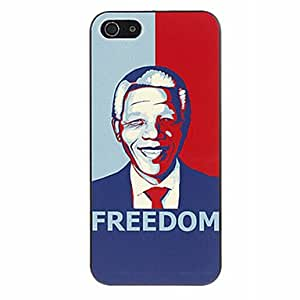 LCJ Nelson Mandela and Freedom Pattern Hard Case for iPhone 5/5S
