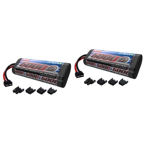 -Cell NiMH Battery with Universal Plug (EC3/Deans/Traxxas/Tamiya) x2 Packs ()