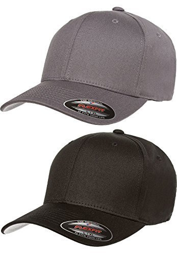 aac58ef359a Flexfit 2-Pack Premium Original Cotton Twill Fitted Hat …