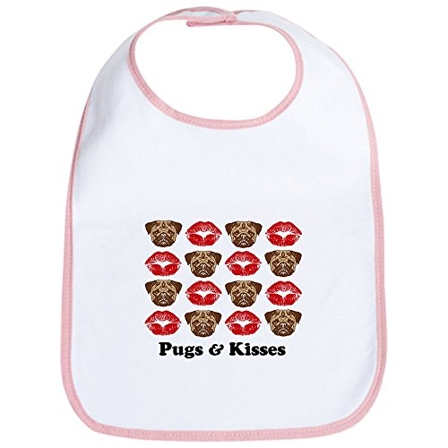 Little Kisses Baby Wash - CafePress - Pugs and Kisses Bib - Cute Cloth Baby Bib, Toddler Bib