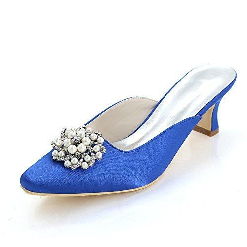 L@YC Frauen High Heels Pump / Hausschuhe / Multi-Color / große Yards / Hochzeit 0723-15K Blue