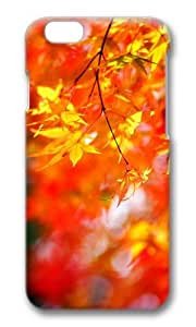 MOKSHOP Adorable autumn maple tree foliage Hard Case Protective Shell Cell Phone Cover For Apple Iphone 6 Plus (5.5 Inch) - PC 3D