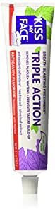 Kiss My Face Triple Action Anti Cavity Toothpaste, Fluoride Toothpaste, 4.1 Ounce