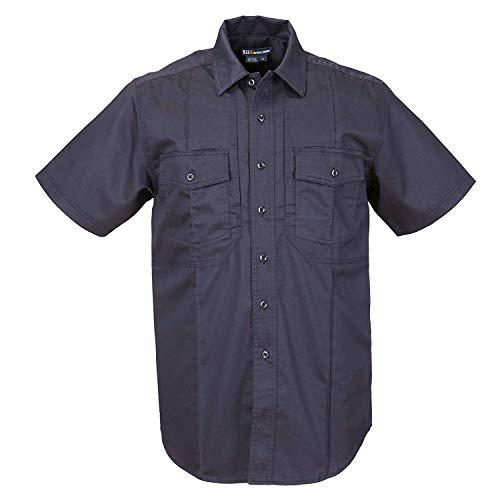 5.11 Tactical Men's Cotton Twill Station Non-NFPA Class B Short Sleeve Shirt, Fire Navy, Large, Style 46124
