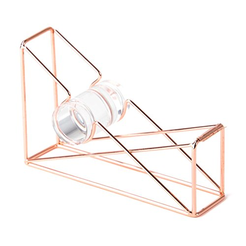 U Brands Desktop Tape Dispenser, Wire Metal, Copper/Rose...