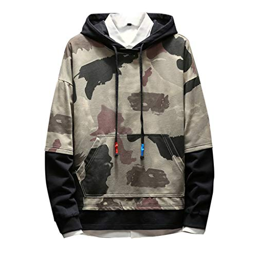 Mens Camoflauge Hoodies – Camo Hooded Sweatshirts Sports Outwear Hooded Sweatshirts in Sizes M-5XL