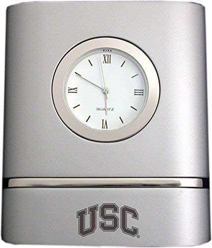 LXG, Inc. University of Southern California- Two-Toned Desk Clock -Silver