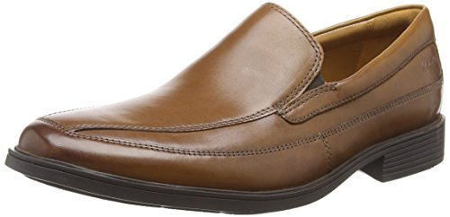 Hombre Tilden Clarks Leather Tan Mocasines Free Marrón Para dark xIqaSqrdw