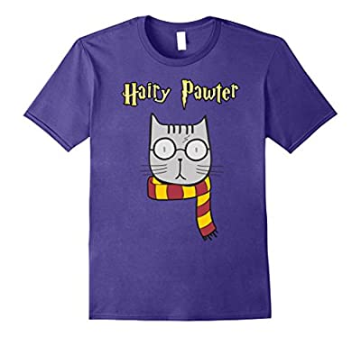 Hairy Pawter Funny T-Shirt Cute Magic Cat With Glasses Gift
