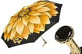 Pasotti Folding Umbrella - Limited Edition Dahlia Flower Yellow