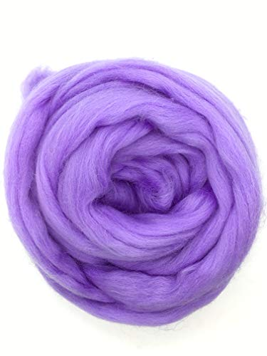 Periwinkle Merino Wool Top Roving Fiber Spinning, Felting Crafts USA (4 pounds) by Shep's Wool (Image #6)