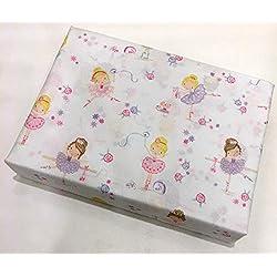 BELLA LUX Ballet/Ballerina Girls Twin Sheet Set 100% Easy-Care Polyester