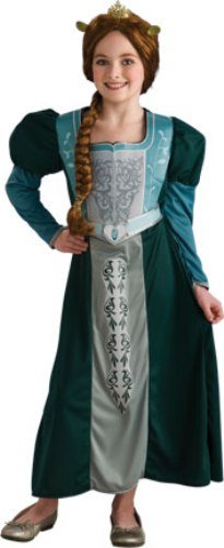 Shrek Child's Costume, Princess Fiona Dress Costume-Medium (Princess Fiona Dress)