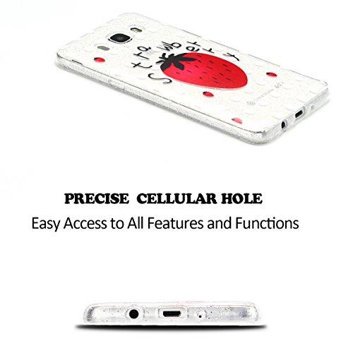 Funda para Samsung Galaxy J5 2016 5.2 Suave Transparente Delgado Gel Silicona TPU Case para Galaxy J5 2016 SM-J510FN E-Lush Cristal Blanda Protectora Cover Caja [Flash point] Claro Flexible Absorción Fresa