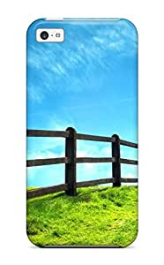 Durable Case For The Iphone 5c- Eco-friendly Retail Packaging(heavens Fence Nature Heaven Digital)