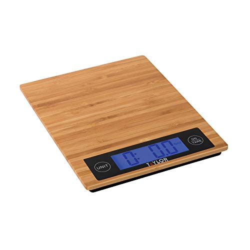 Taylor Precision Products 382821 Digital Kitchen Scale, 11 Lb, Bamboo