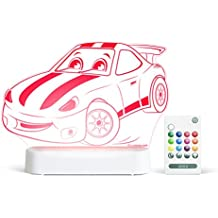 Aloka Race Car Starlight Multi-Colored LED Light with Remote Control, Multi-Color Changing, 8 inch