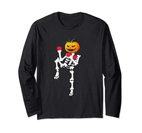 Muay Thai Skeleton Pumpkin Halloween Shirt