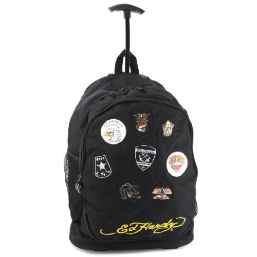 cd12538f8ad Ed Hardy Tattoo Print Brad Trolley School Travel Rolling Backpack - Buy  Online in UAE.   Apparel Products in the UAE - See Prices, Reviews and Free  Delivery ...