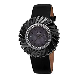 Ladies Crystal Accented Fan Design Watch
