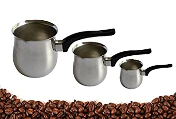 Dynore Stainless Steel Coffee Warmer Set, Set of 3, Silver Coffee, Tea & Espresso at amazon