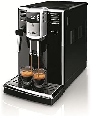 Saeco Incanto Cafetera HD8911/01 - Máquina de café espresso automática con pannarello, color negro