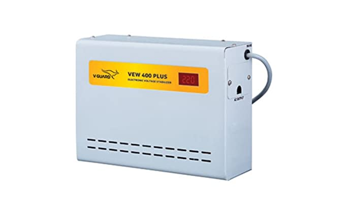 V Guard VEW 400 Plus Voltage Stabilizer  Grey  Inverters