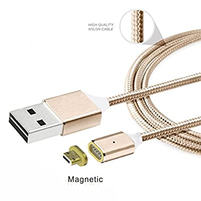 For Samsung Android LG, Mchoice 2.4 A Micro USB Charging Cable Magnetic Adapter Charger for Samsung Android LG