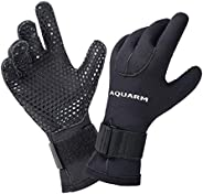 AQUARM Premium Diving Gloves - 3mm Neoprene Scuba Dive Gloves with Elastic Wrist Band and Skid Resistance Part