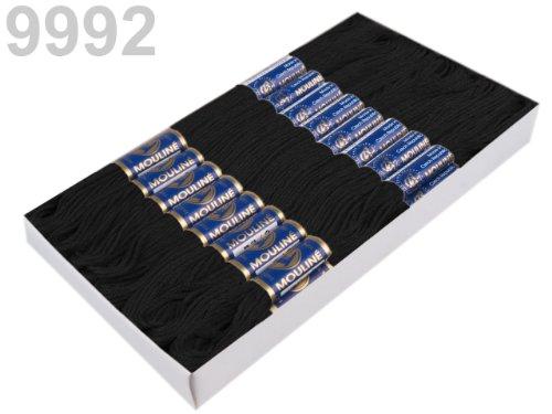 1 Docke Stickgarn / Sticktwist 100 % Baumwolle Nr. 9992 Schwarz