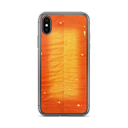 iPhone X/XS Pure Clear Case Cases Cover Cherry Burst On Flamed Maple (Flamed Cover)