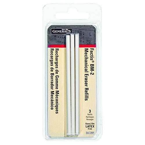 (General Pencil CO. GPBM2-3RBP Factis Pen Style Eraser Refills 3Pcs Carded)