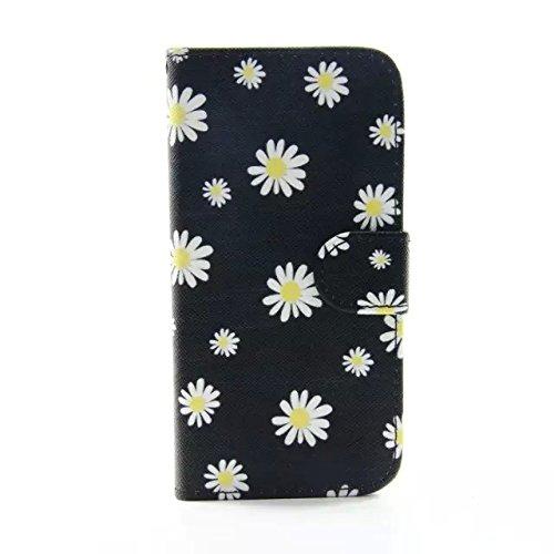 iPhone 5 Funda Libro de Suave PU Leather Cuero Impresión - Sunroyal Carcasa Con Flip Case Cover,Cierre Magnético,Función de Soporte,Billetera con Tapa para Tarjetas Caja del Telefono para iPhone 5 5G  D-10