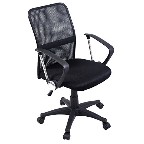 Giantex Mesh Office Chair with Swivel Casters Mid Back Mesh