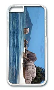 Adorable Island Rock La Digue Seychelles Hard Case Protective Shell Cell Phone Cover For Samsung Galaxy Note4 (5.5 Inch) - PC Transparent