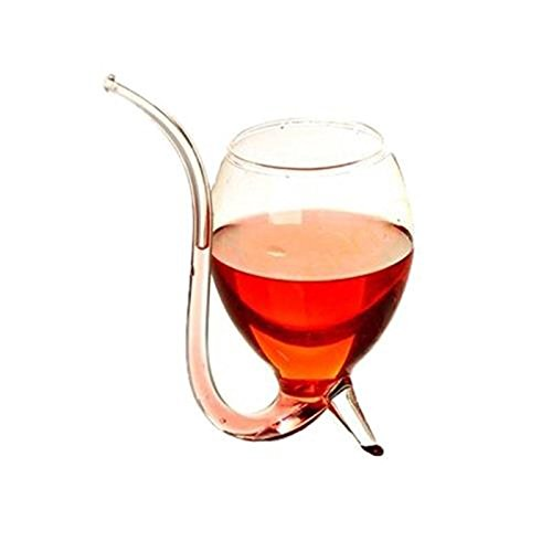 Jiayuane 1 PCS 300ml Vampire Wine Whiskey Glass Sucking Cup, White Wine Glass Vampire Devil Wine Glass Cup With Tube Straw Juice Cup