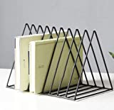OSHA Table Organizer, Nordic Simple Modern Iron Art Small Bookshelf, Magazine Rack Table Decoration Shelf,Black