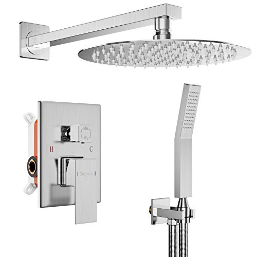 r System with Pressure Balance Valve, Shower Faucet Set with 10